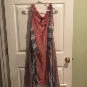 Size 28 red white and blue vest cover up